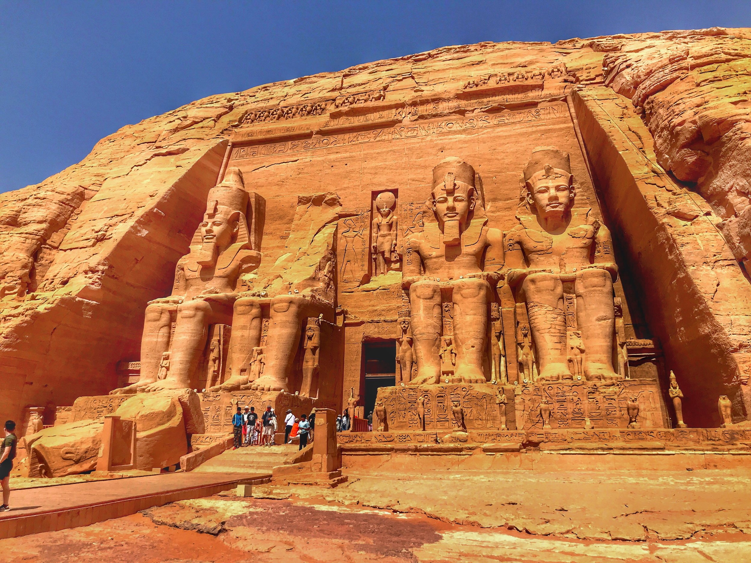 Add Aswan to your itinerary and spend a morning at Abu Simbel