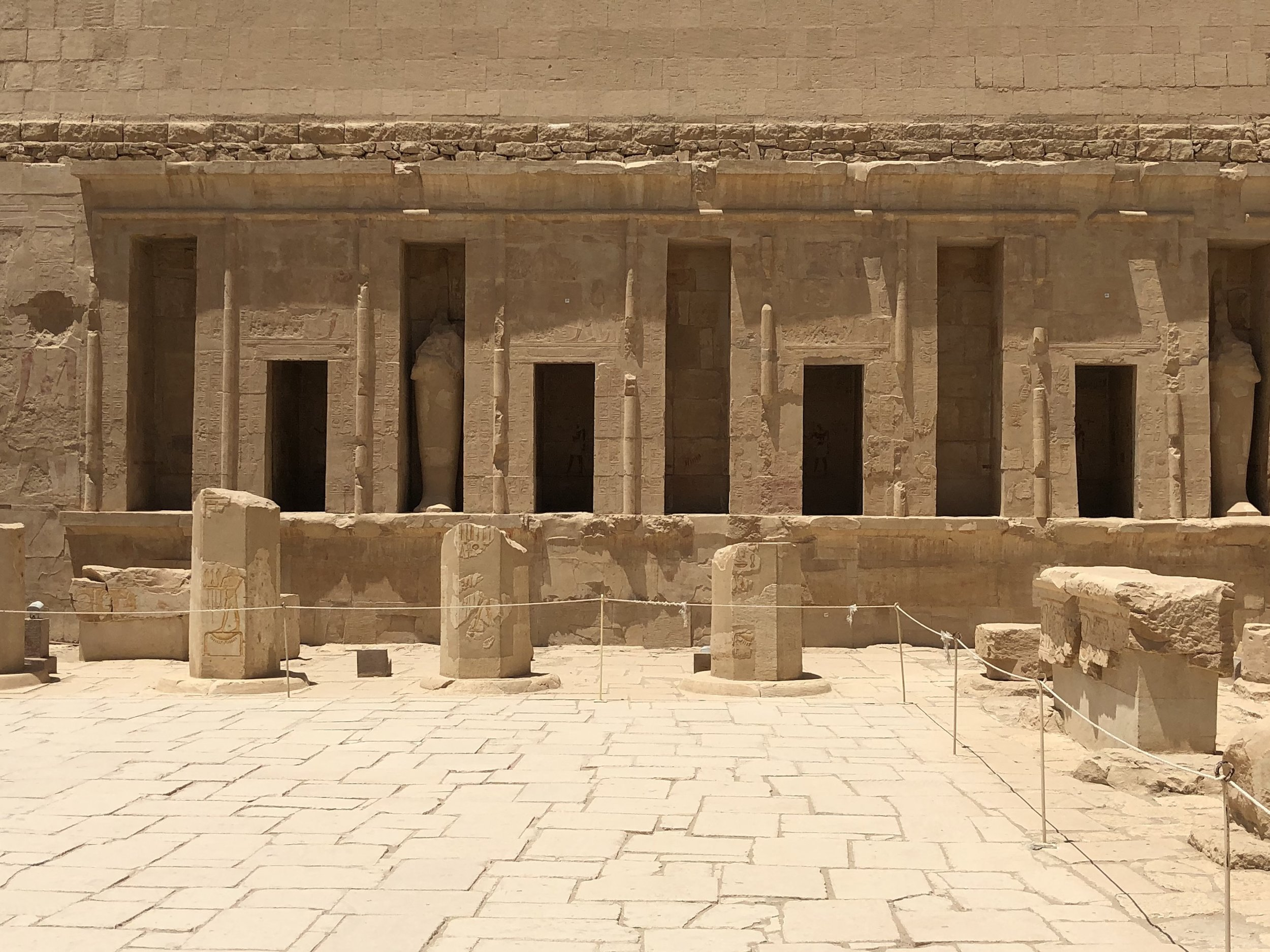Only stubs of columns remain in the courtyard of the top terrace