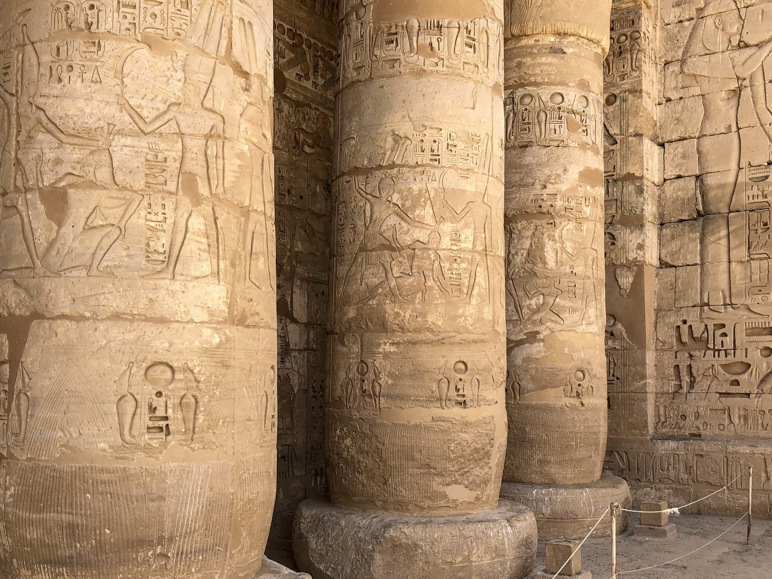 Medinet Habu includes a larger version of the Ramesseum. Seems like Ramesses III had to one-up his father