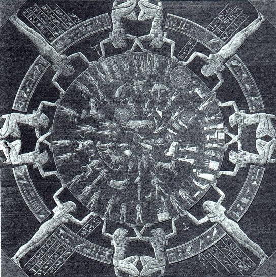 The oldest complete sky map of the ancient world, the famous Dendera Zodiac, now in Paris' Louvre museum