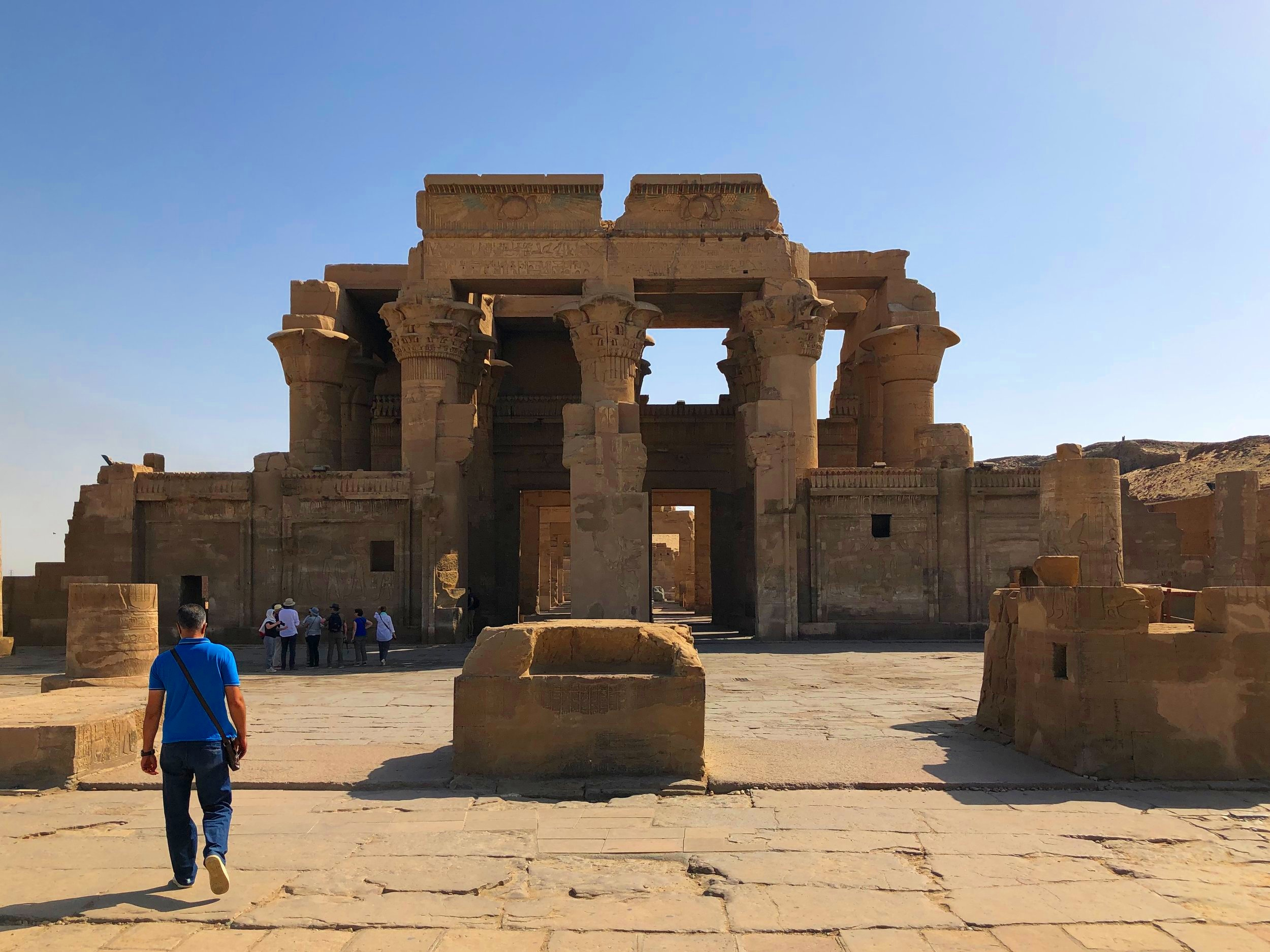 The symmetry of the temple, half devoted to Sobek, half to Horus, is a large part of Kom Ombo's appeal