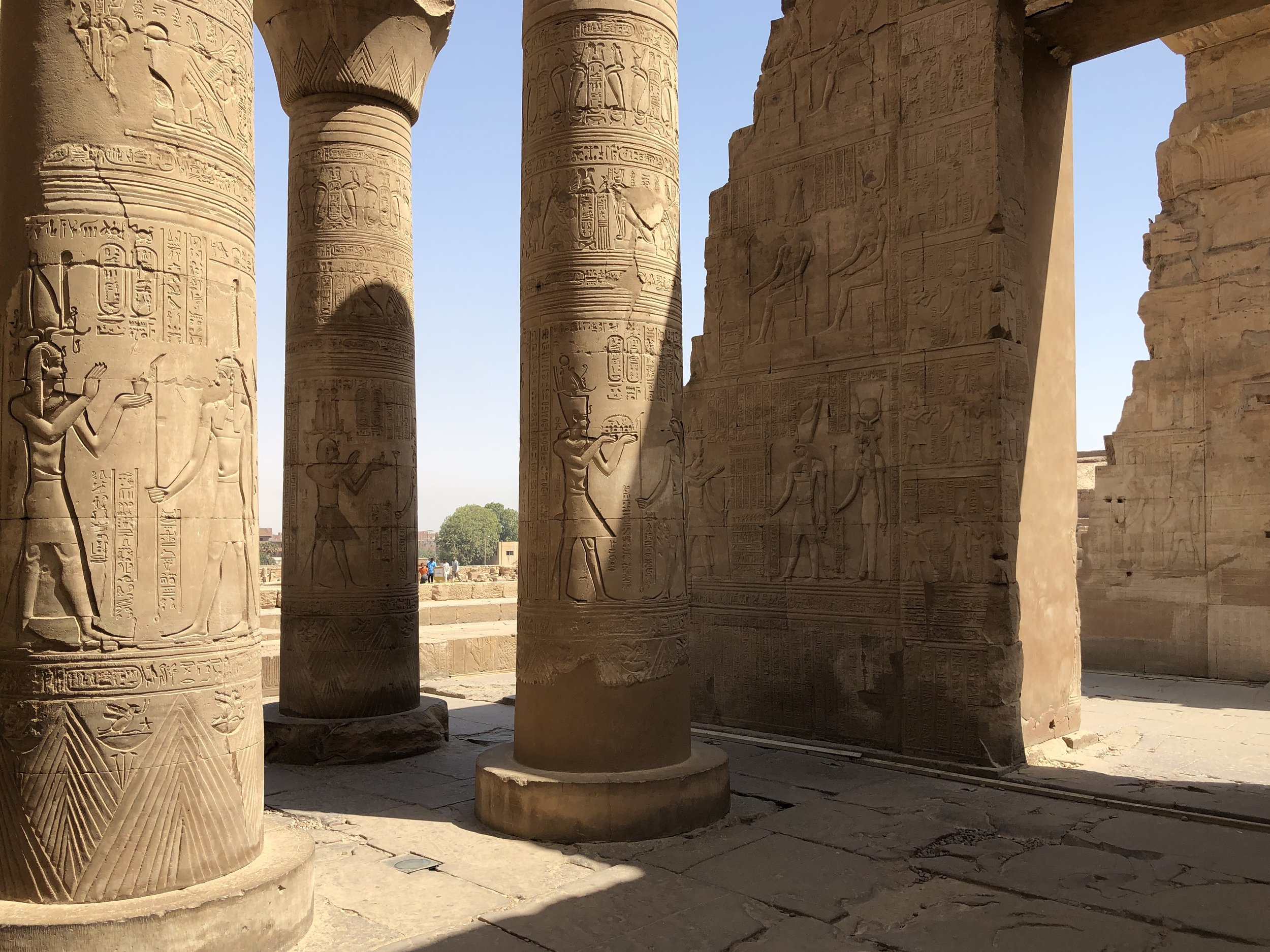 Kom Ombo also houses clinics. A sample treatment was to squeeze onion juice into the eye to treat irritations