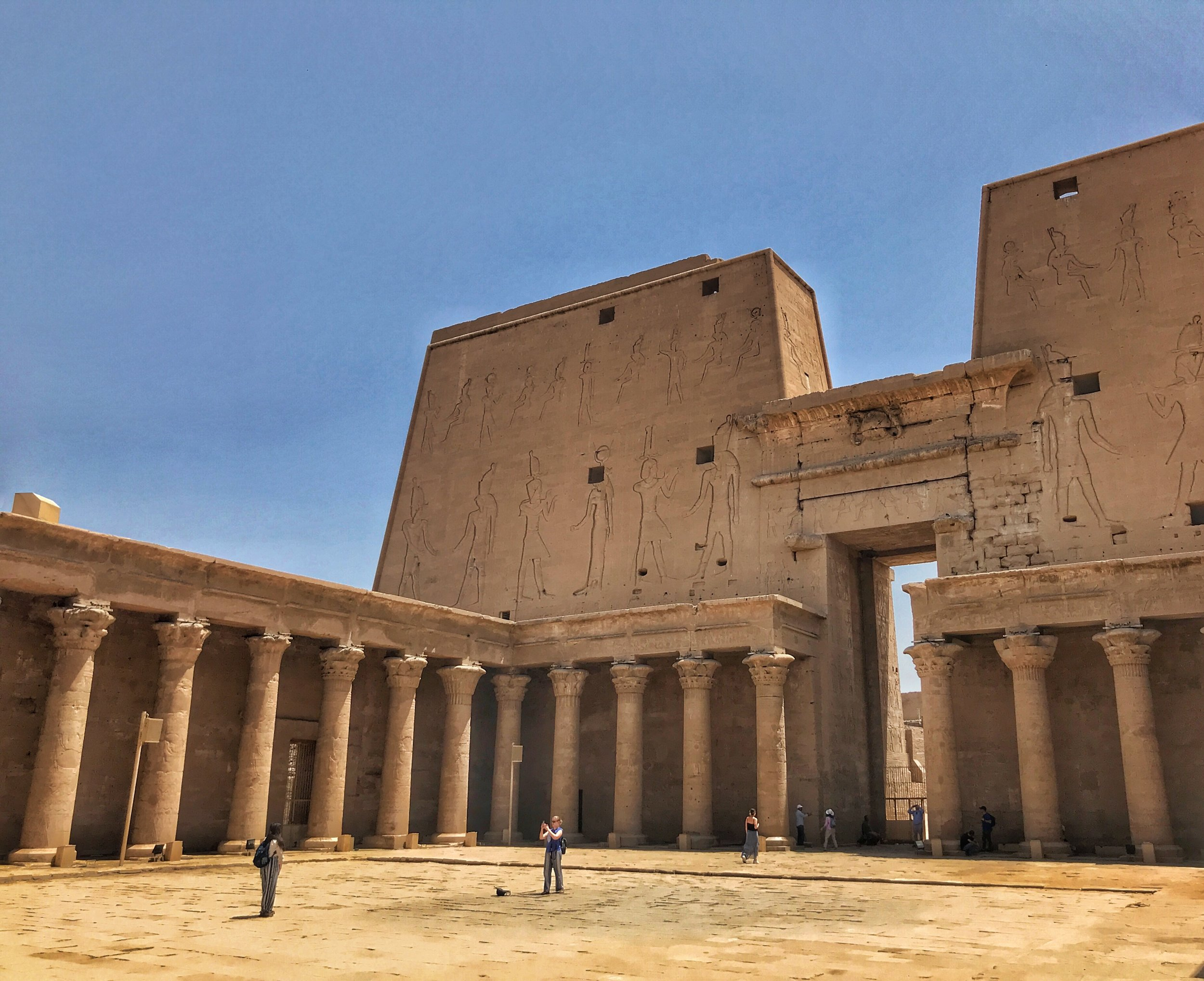 Step back in time to explore the temple at Edfu, more than 2,200 years old!