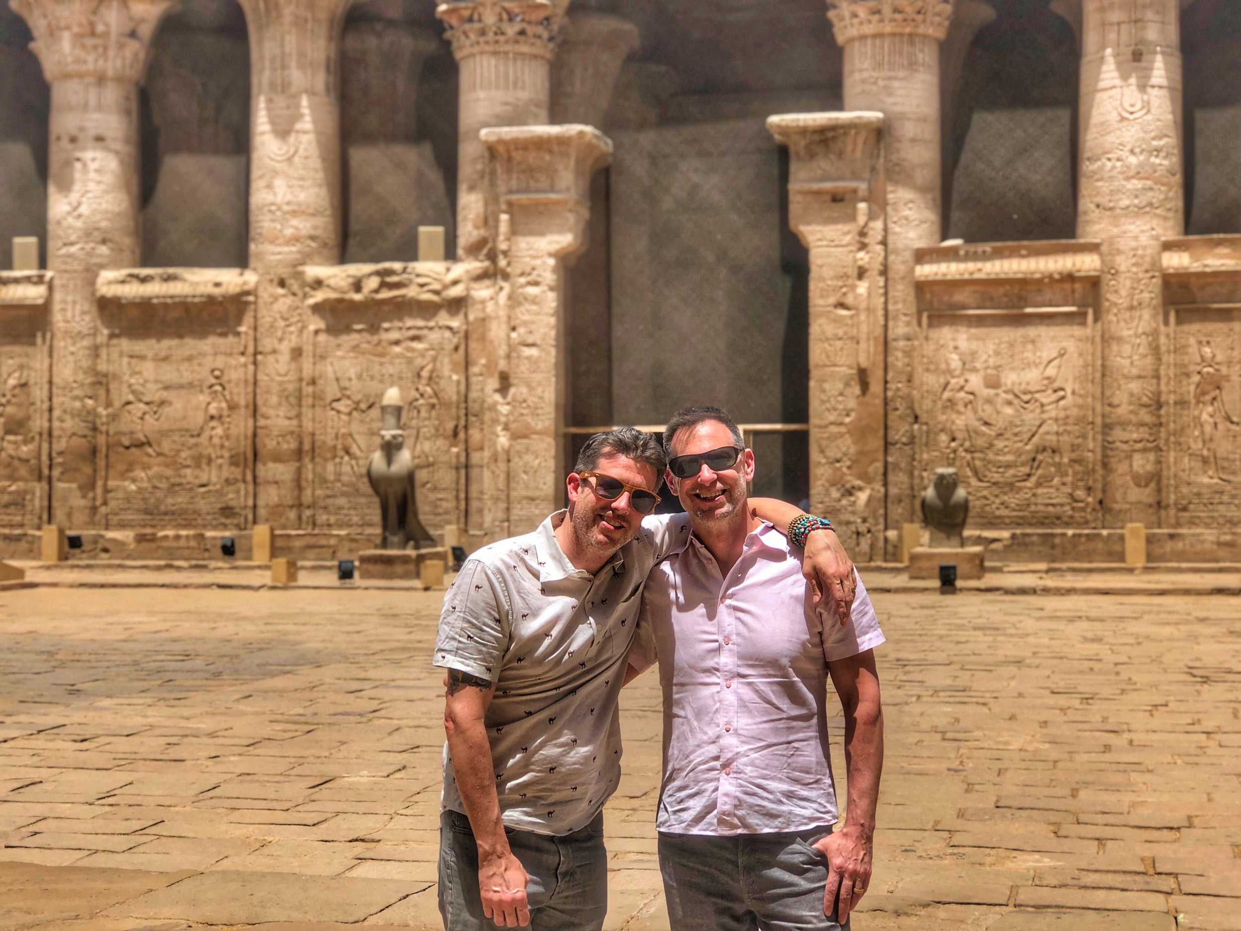 Wally and Duke hired a driver and guide to take them from Aswan to Luxor, stopping at Kom Ombo and Edfu on the way up