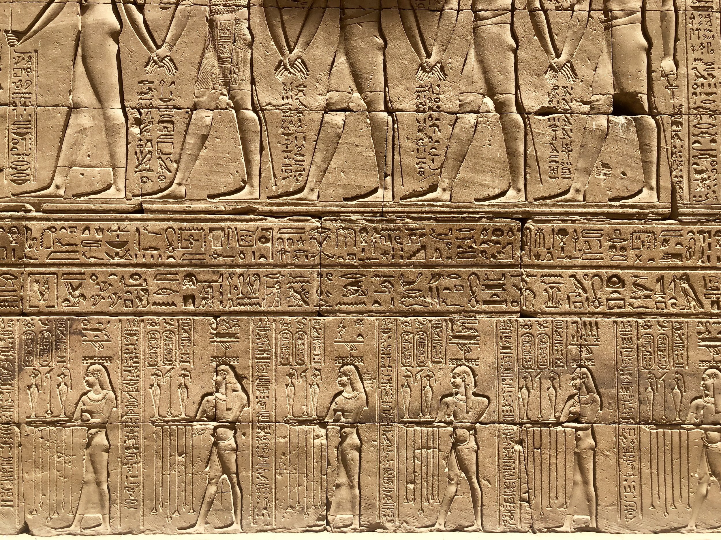 Only elites could read and write hieroglyphics, so pictures told the story