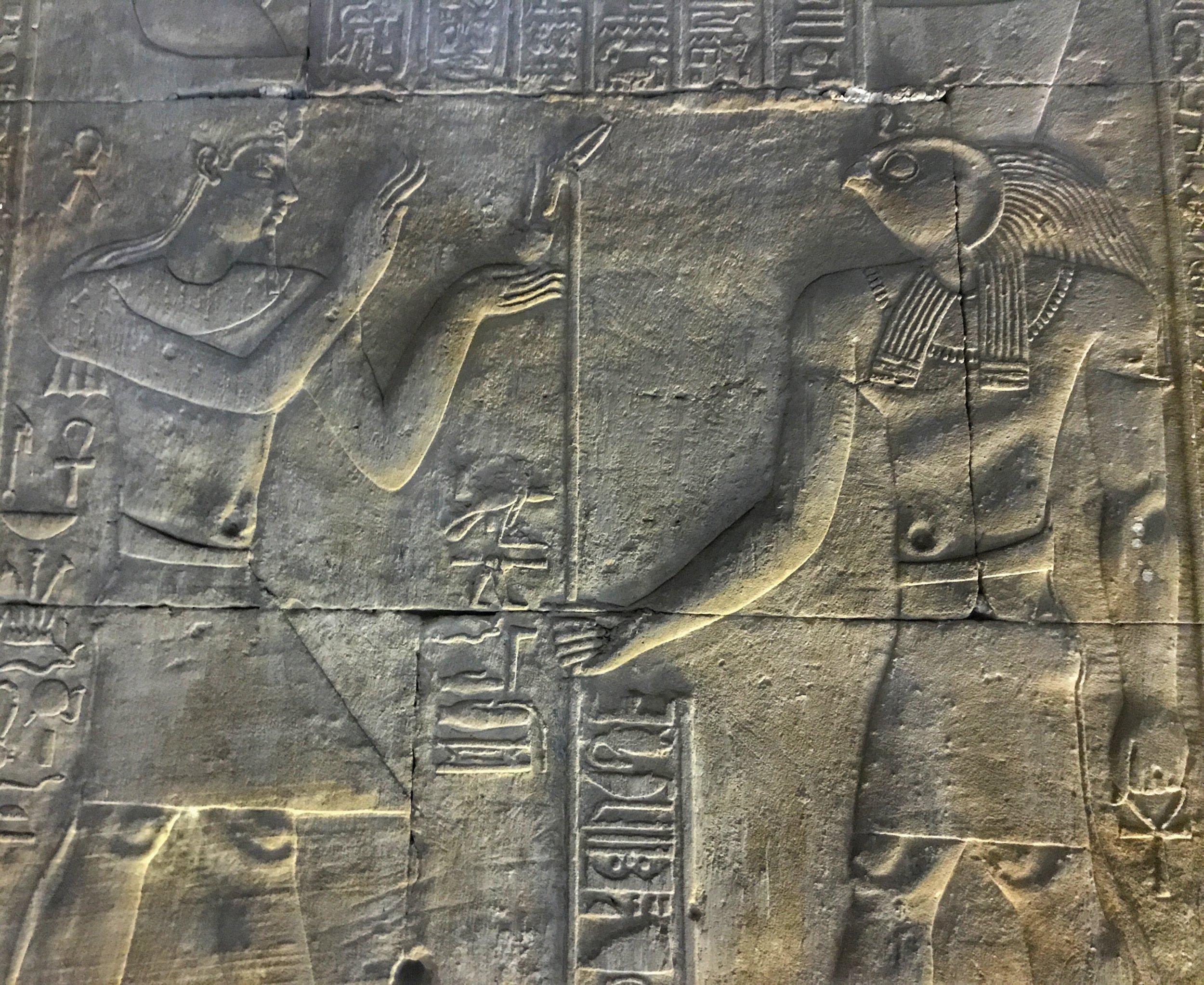 One of the Ptolemies honoring Horus