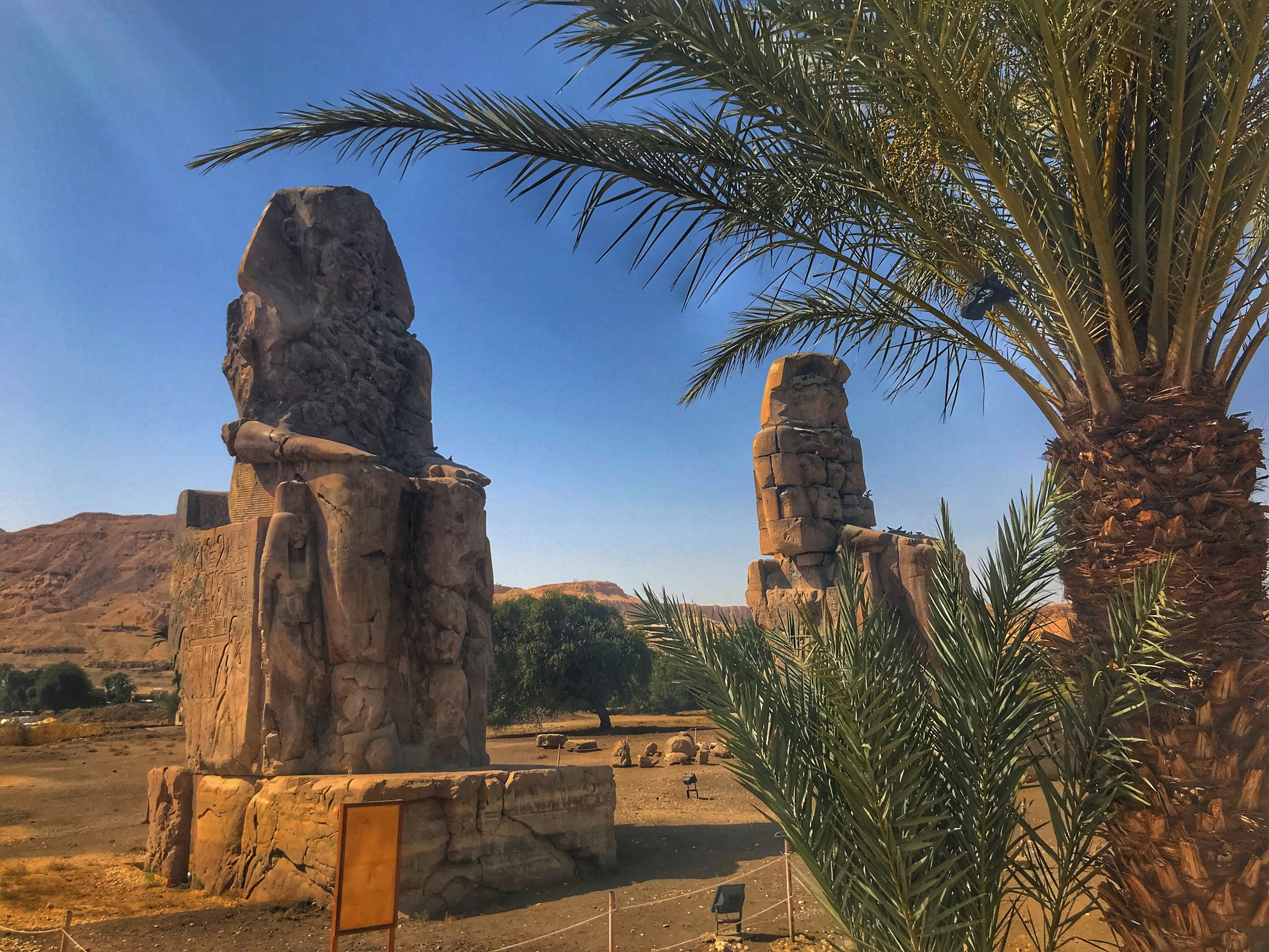 These decaying statues were once guardians of one of the most impressive temples in Egypt