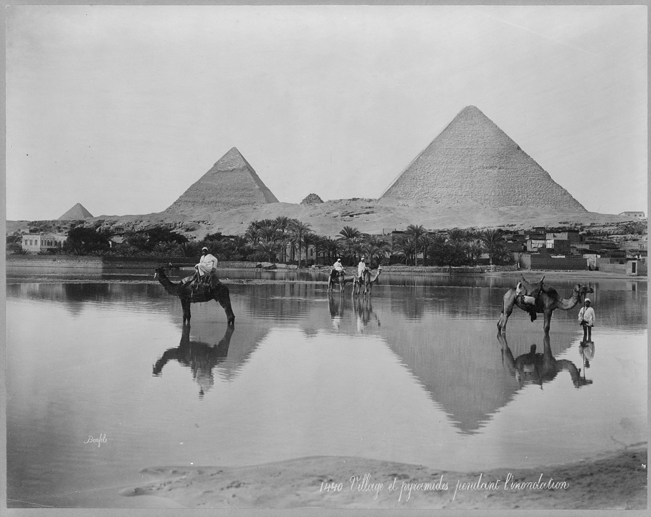The Nile flooding, as seen in this photo from the 1890s