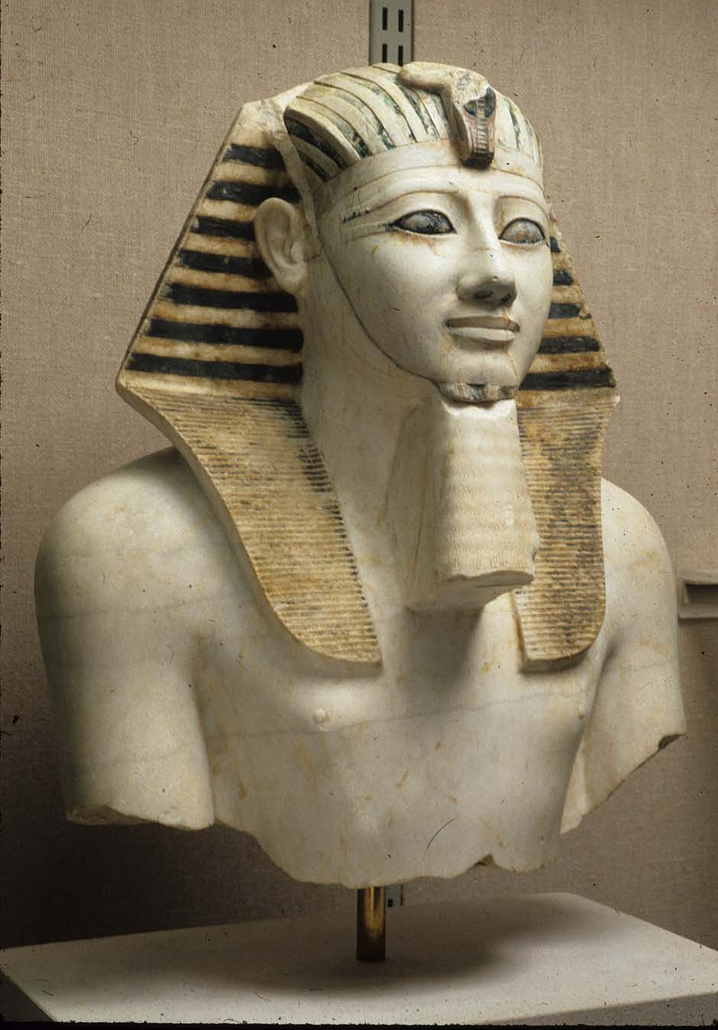 Thutmose III was only a toddler when he became pharaoh, so Hatshepsut reigned as his regent