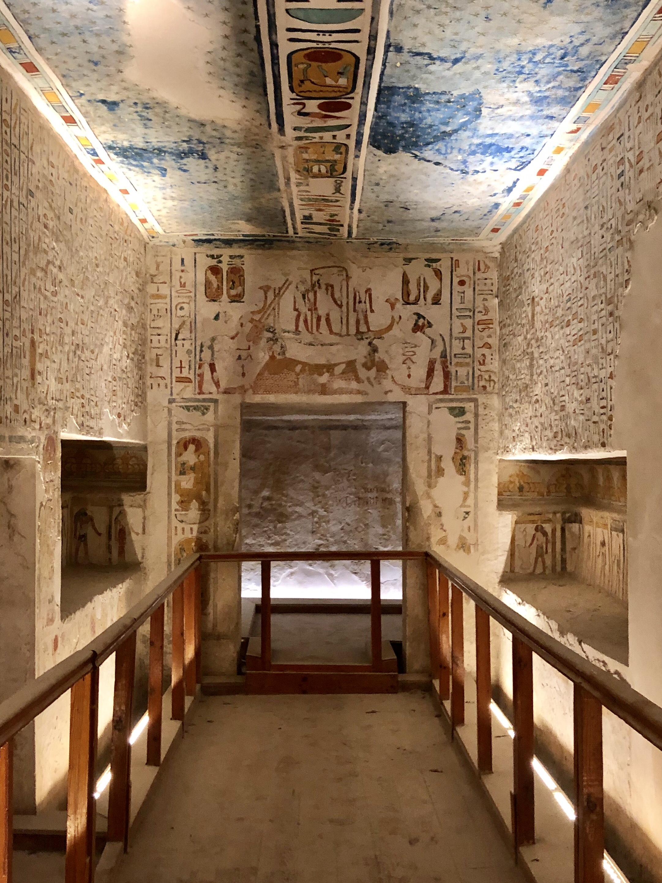 A glimpse into burial chamber of Ramesses IV