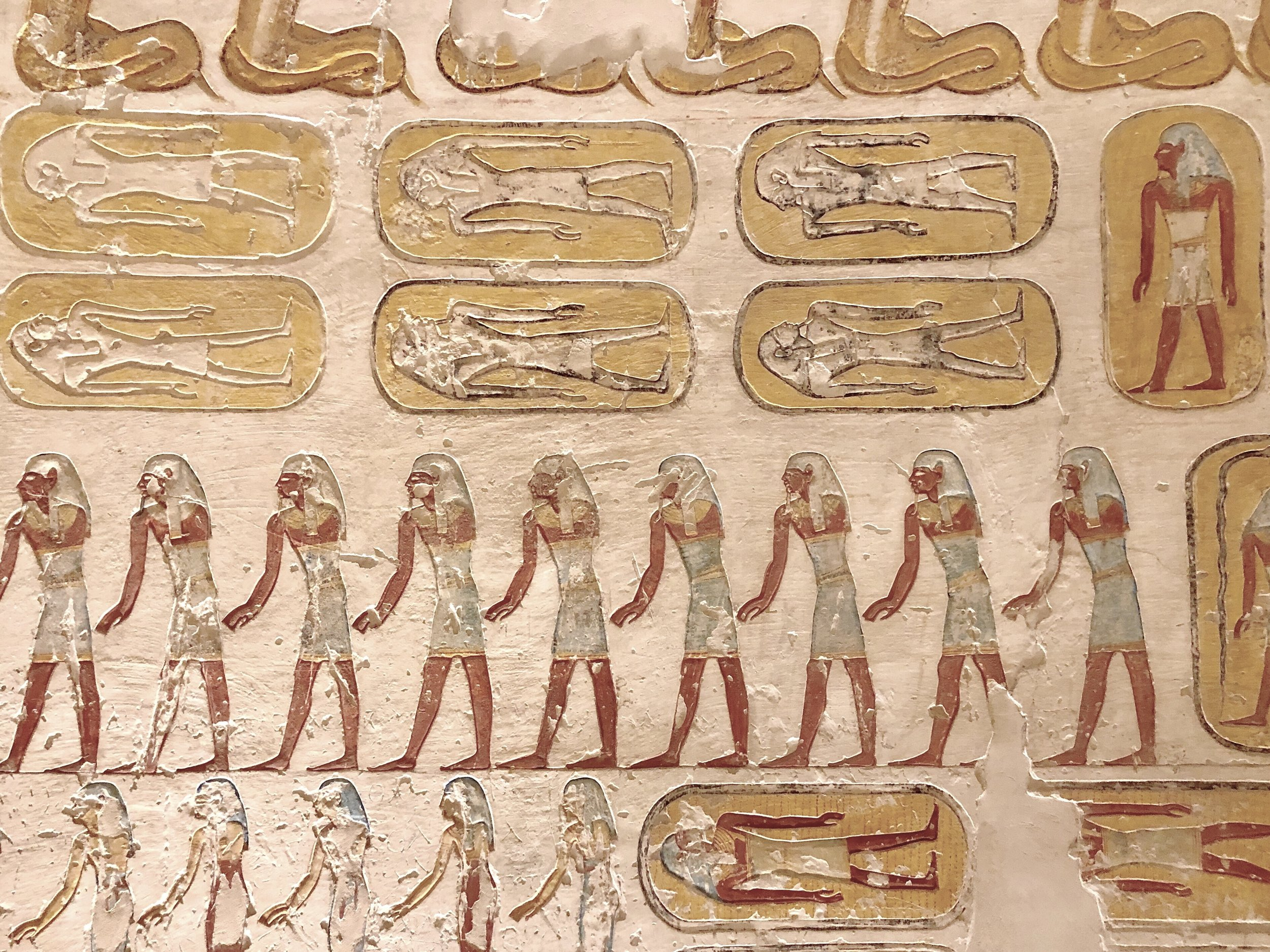 Ancient Egyptians believed that paintings could come to life — no need to bury servants alive; just draw them on the wall!