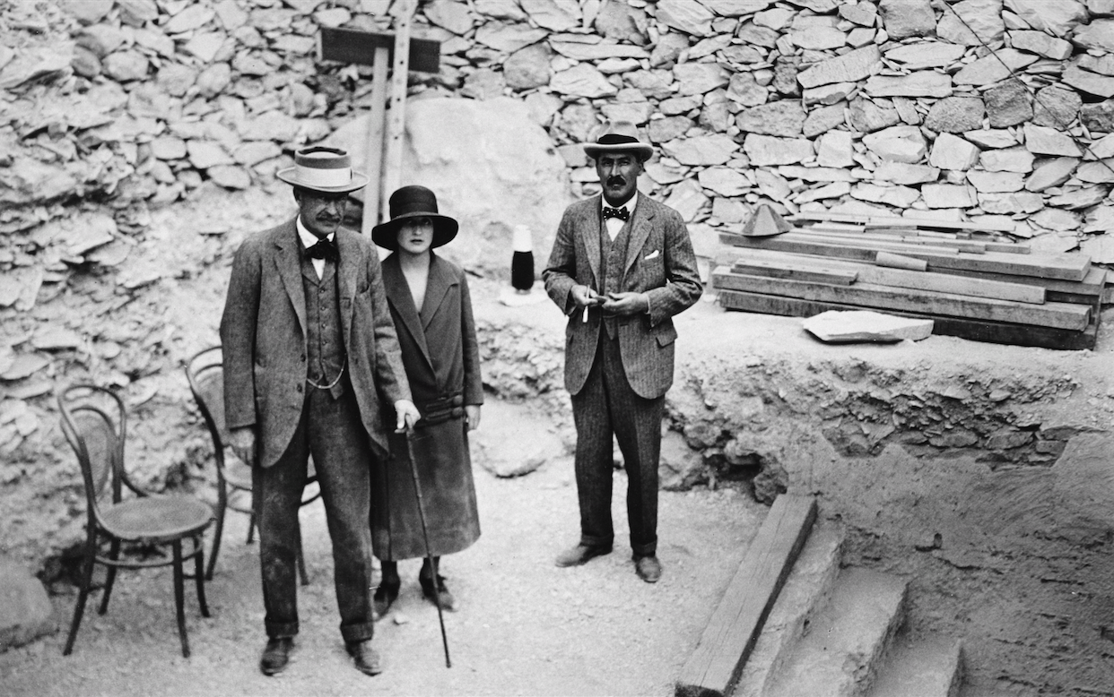 Lord Carnarvon, his daughter Evelyn and Howard Carter
