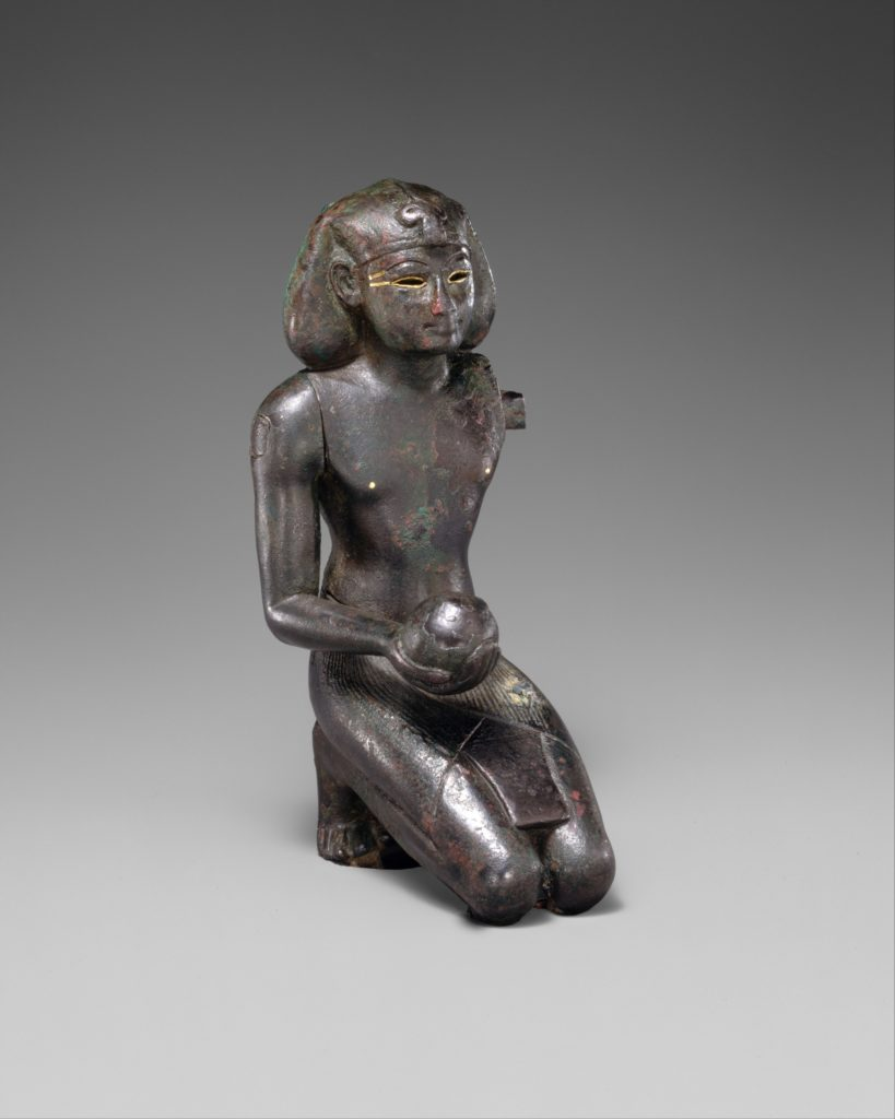 Thutmose III, shown in a devotional pose, must have asked the gods to secure the throne for his son