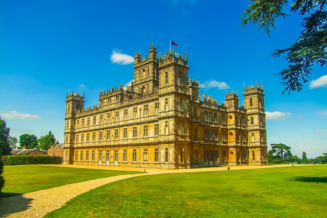 Is that Downton Abbey? Sort of — the show is set in the real-life Highclere Castle, once home to Lord Carnarvon, who paid for the search for and excavation of Tut's tomb