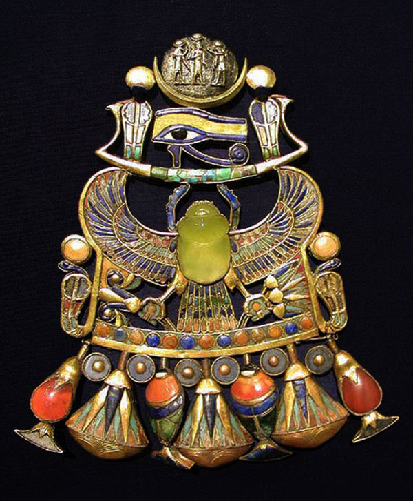 The scarab on this necklace was created by a meteorite crash!