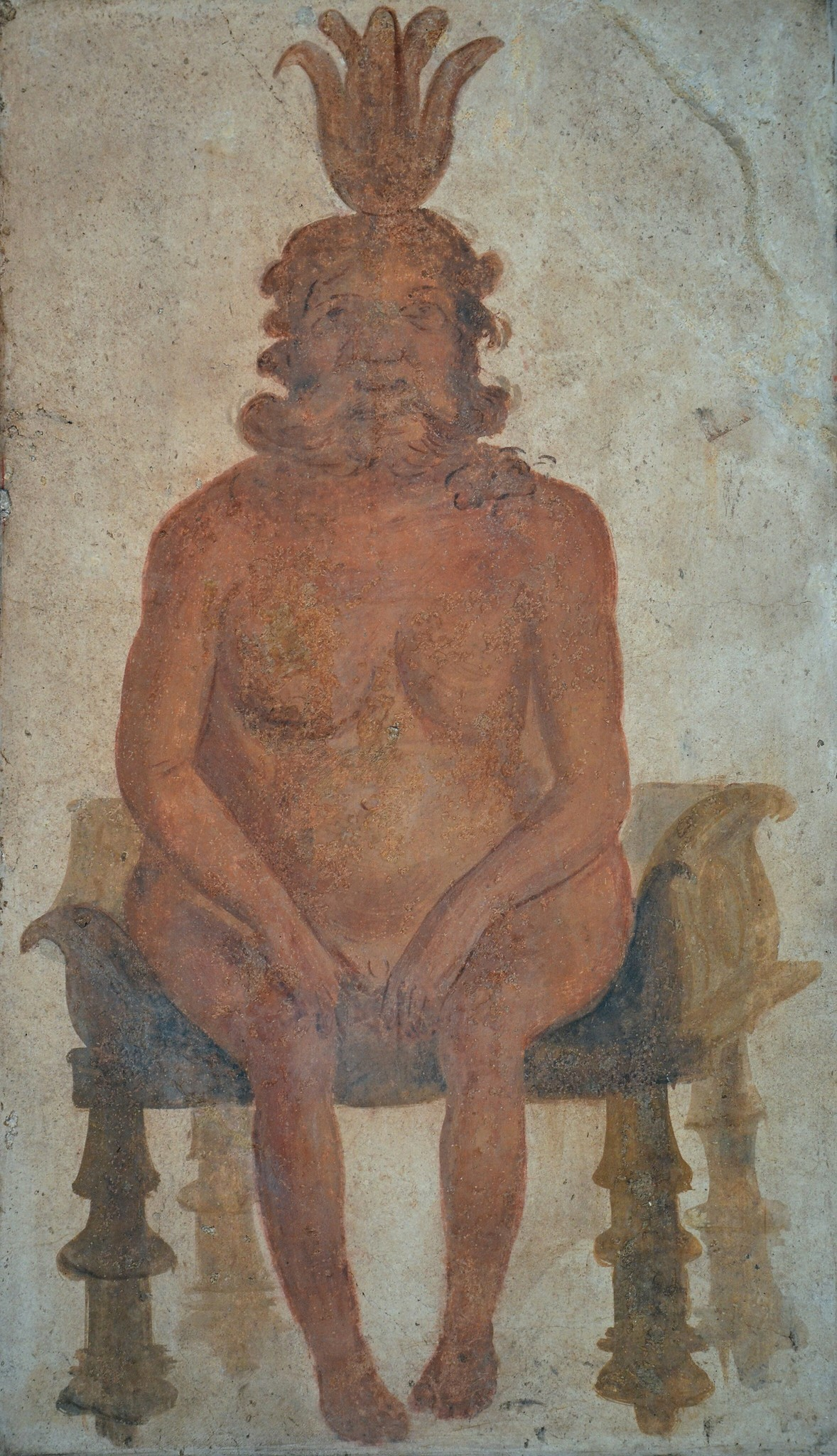 The god even found his way to Pompeii, where he's depicted in this fresco