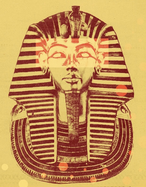 A pop art take on King' Tut's legendary funerary mask