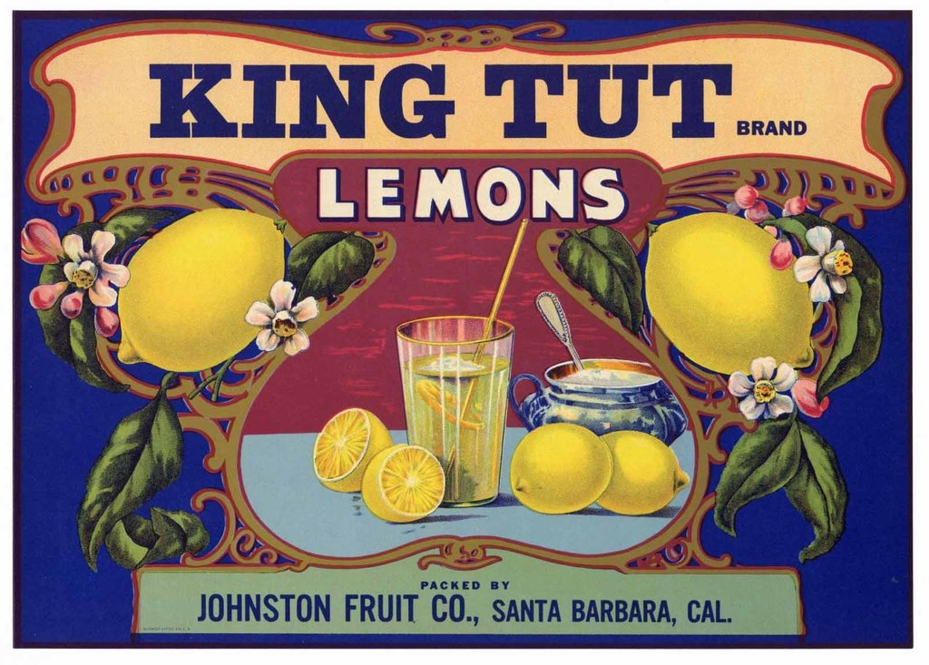 Even a brand of lemons was named after the Boy King