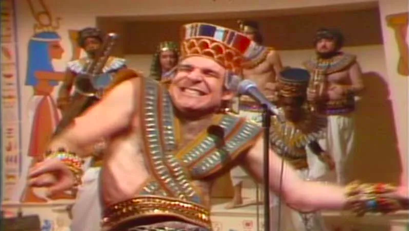 Steve Martin performed a silly song about King Tut on  Saturday Night Live  — which went on to become a Top 20 hit!
