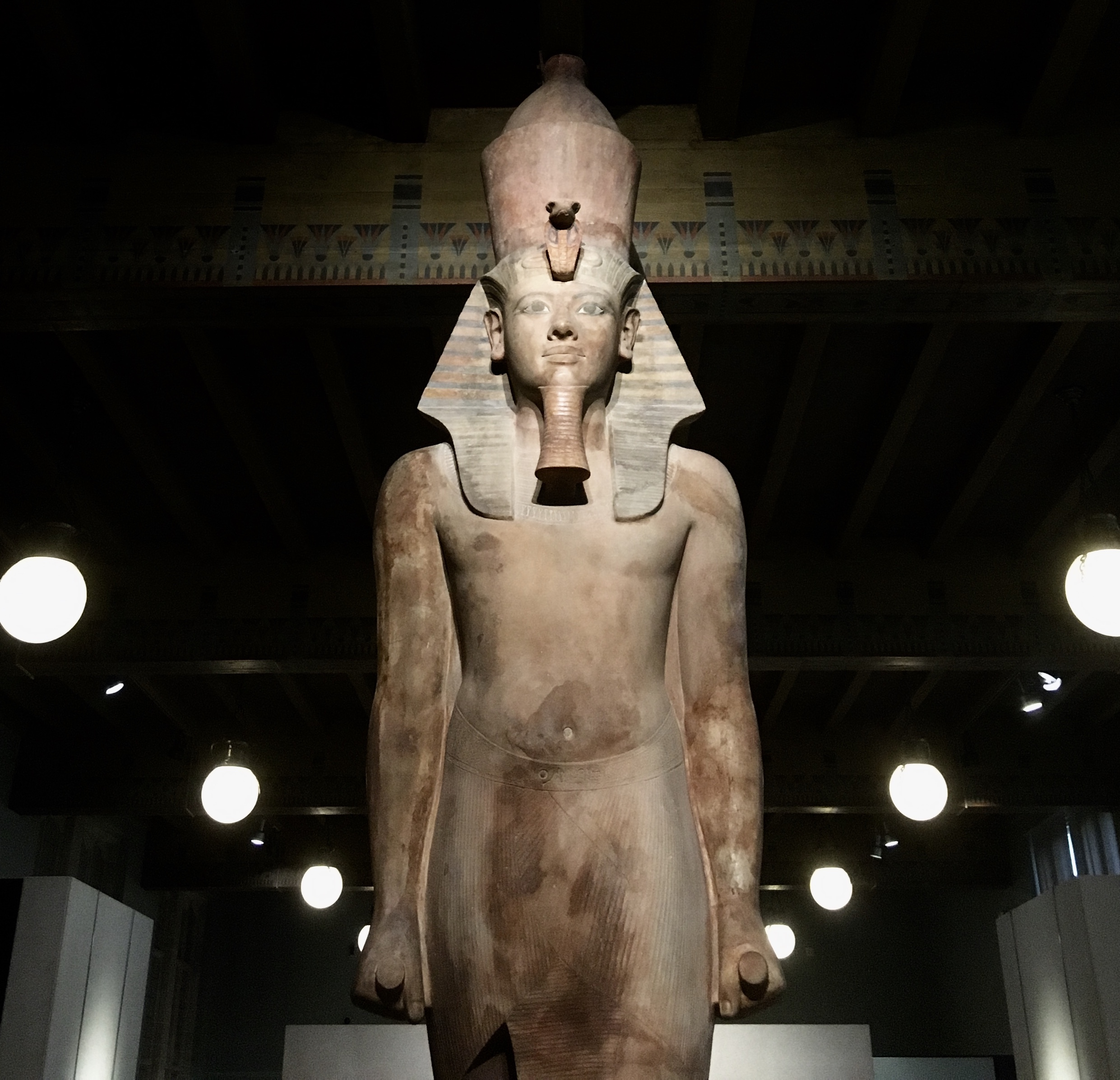 The renovated Tut statue at the Oriental Institute in Chicago