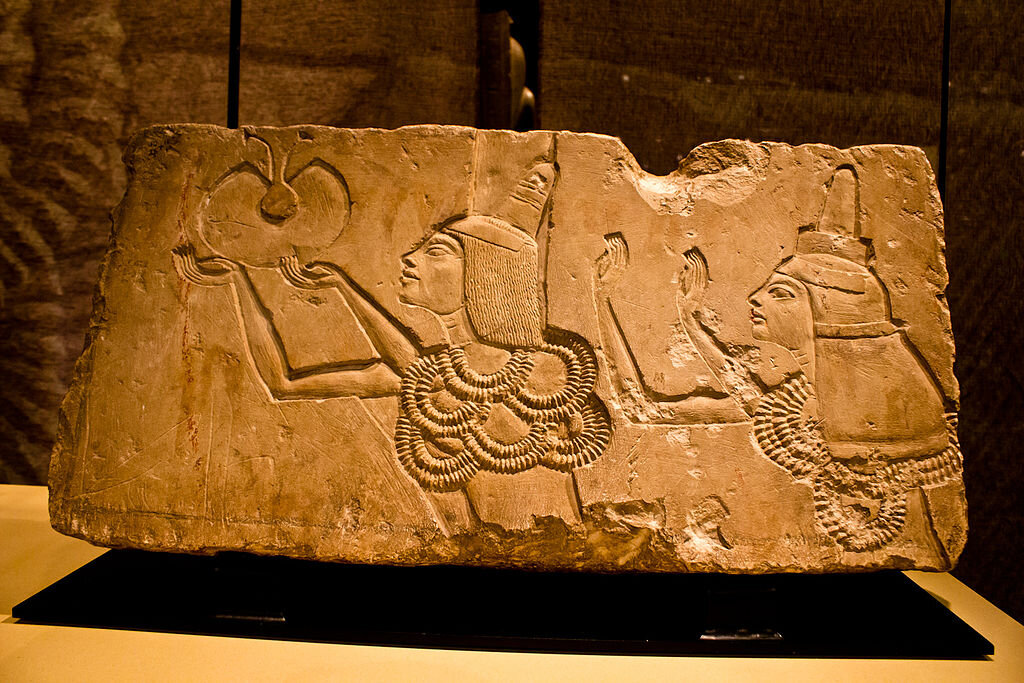 A carving of Ay from Amarna