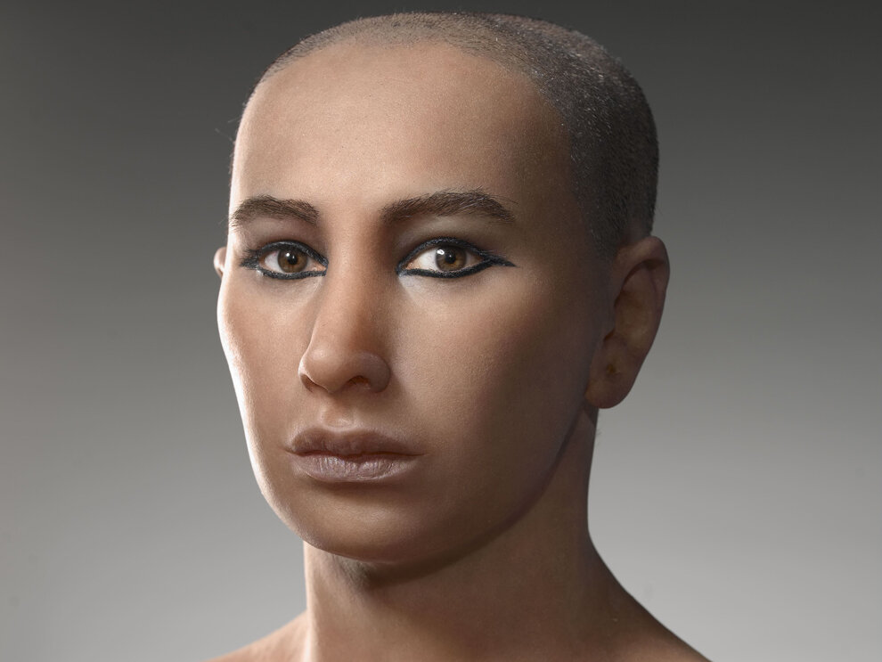 A reconstruction of what Tutankhamun probably looked like