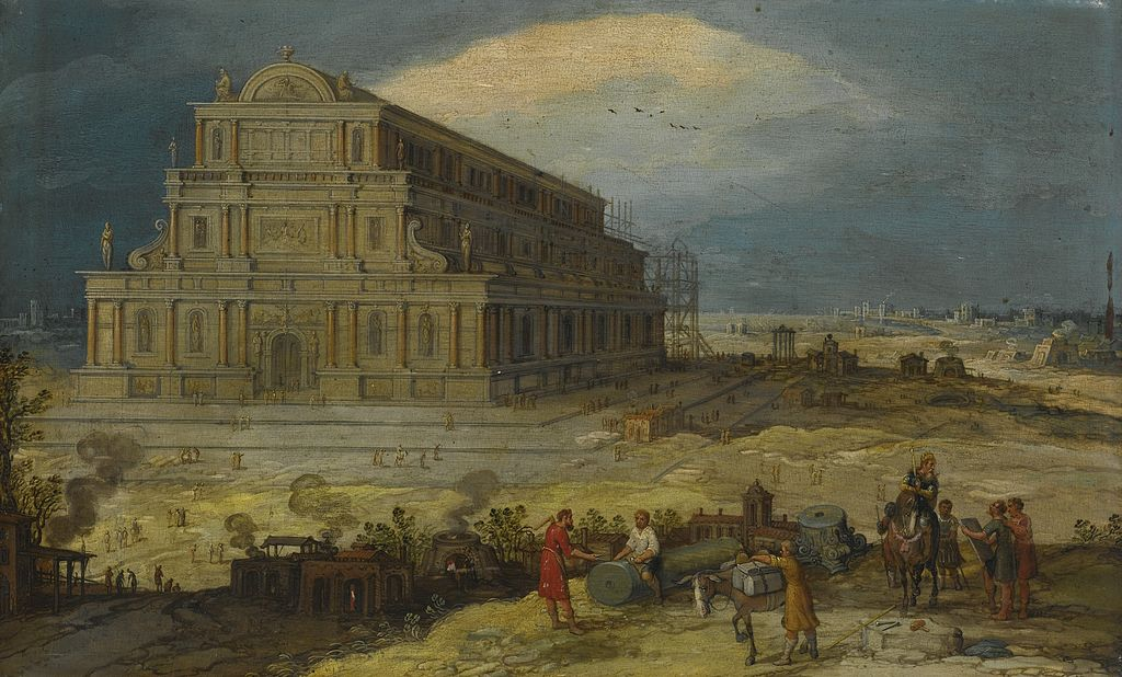 The Building of the Temple of Artemis at Ephesus  by Hendrik van Cleve III. Do we have Alexander the Great to blame for its loss?