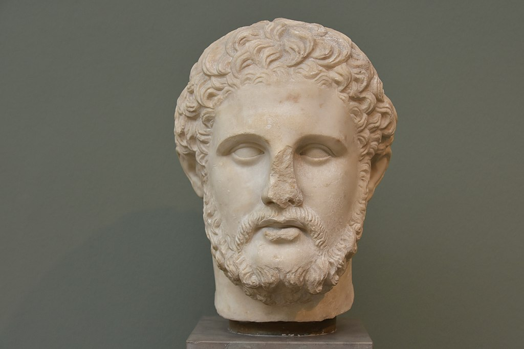This handsome gent is King Philip II, father of Alexander the Great. Hell hath no fury like a gay guy scorned: One of his ex-lovers assassinated him