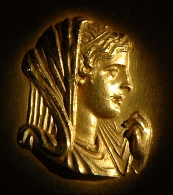 Sure, she looks sweet on this coin. But Alexander's mother, Olympias, was anything but