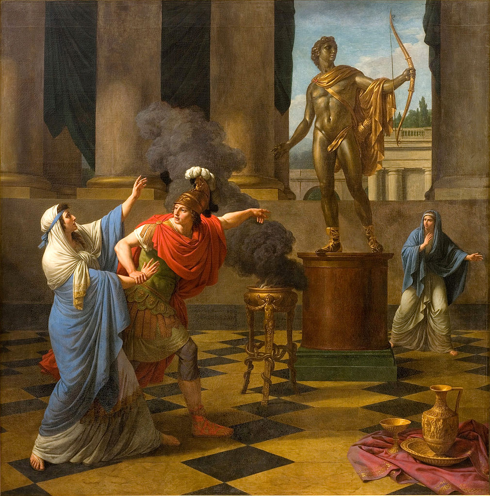 Alexander Consulting the Oracle of Apollo  by Louis Jean François Lagrenée. When you fancy yourself conqueror of the world, you don't care if the Oracle at Delphi says she's busy