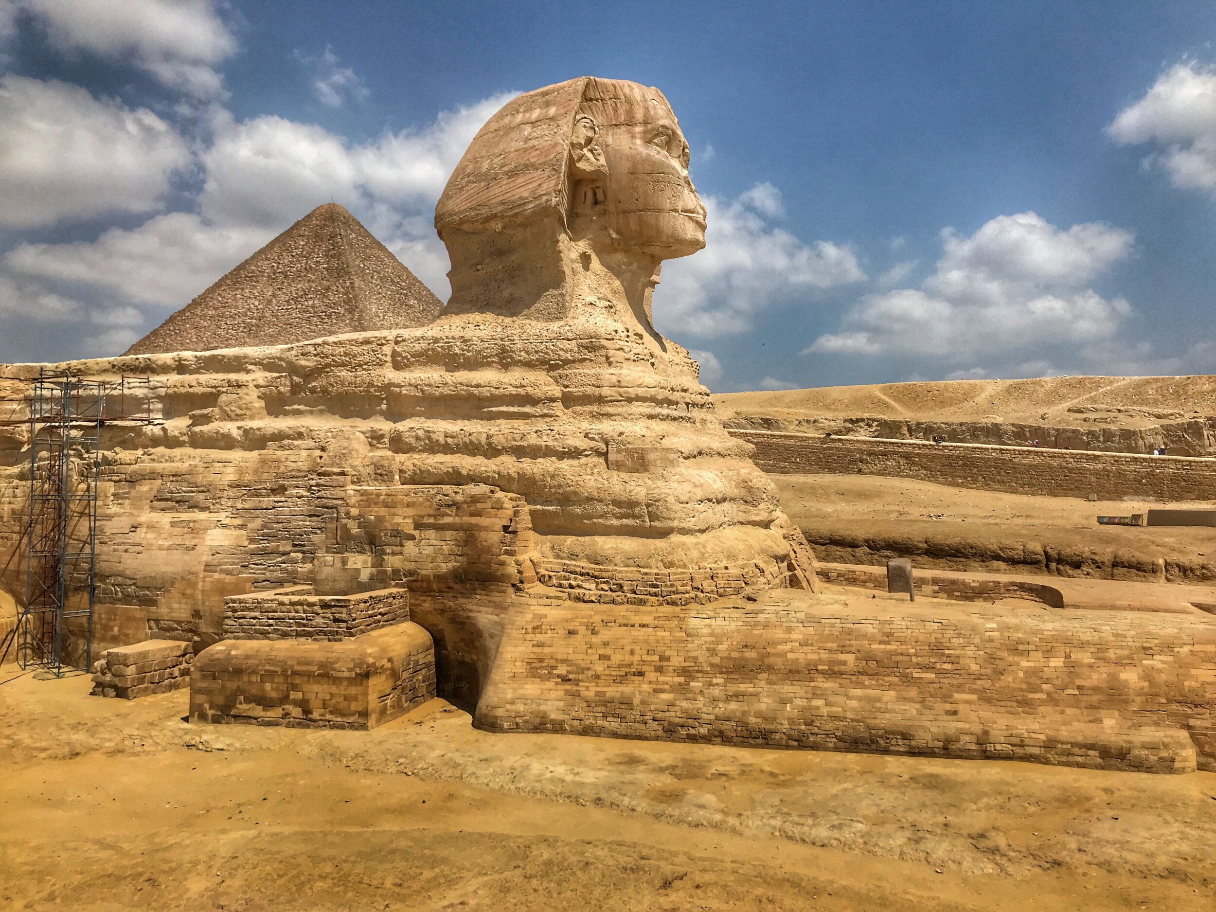 Riddle me this: What's it like visiting the Great Sphinx of Giza?