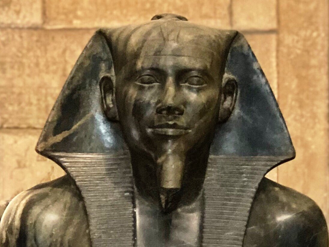 A statue of Pharaoh Khafre in Cairo's Egyptian Museum