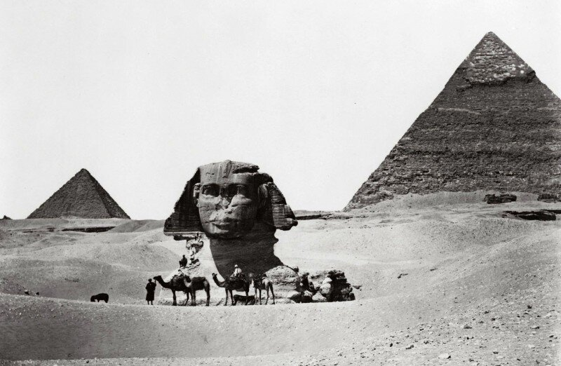 For centuries, only the head of the Sphinx peeked out from the desert, with the rest buried in the sand