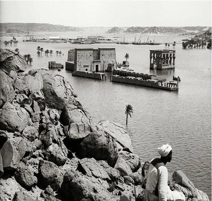 The Aswan Low Dam flooded Philae Temple, and the new dam, built in the 1970s, would have entirely submerged this historic treasure
