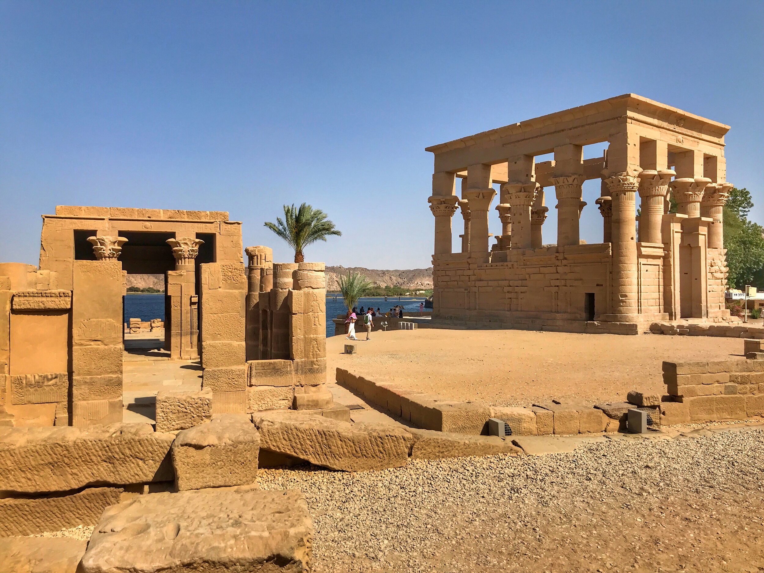 Take a walk around the small island to see the other buildings apart from the temple to Isis