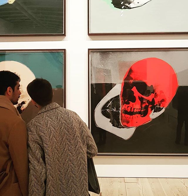 Watching the imminence . . . #andywarhol #skulls #prints #whitneymuseum #modernart #americanart #americanartist #exhibition #art #history #lgbtqa #death
