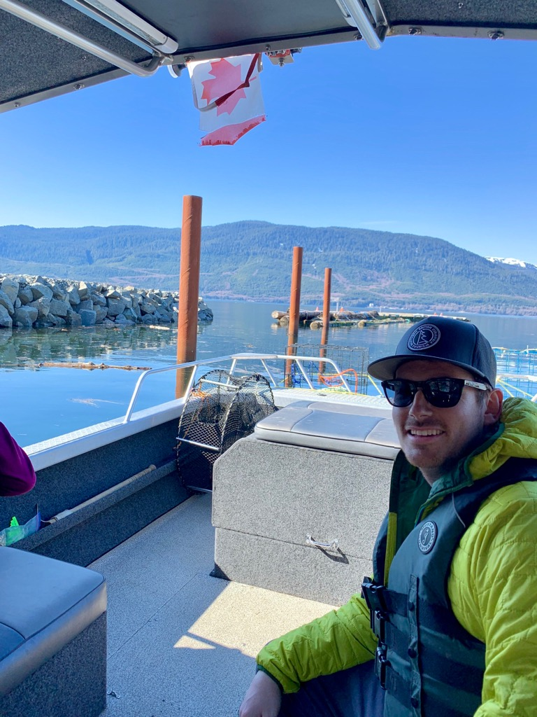 Kyle on the Douglas Channel with Northern BC Jet Boat Adventures