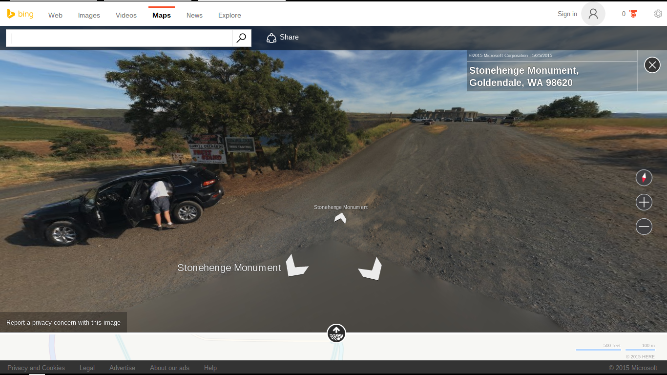 That's us on Bing Streetview!