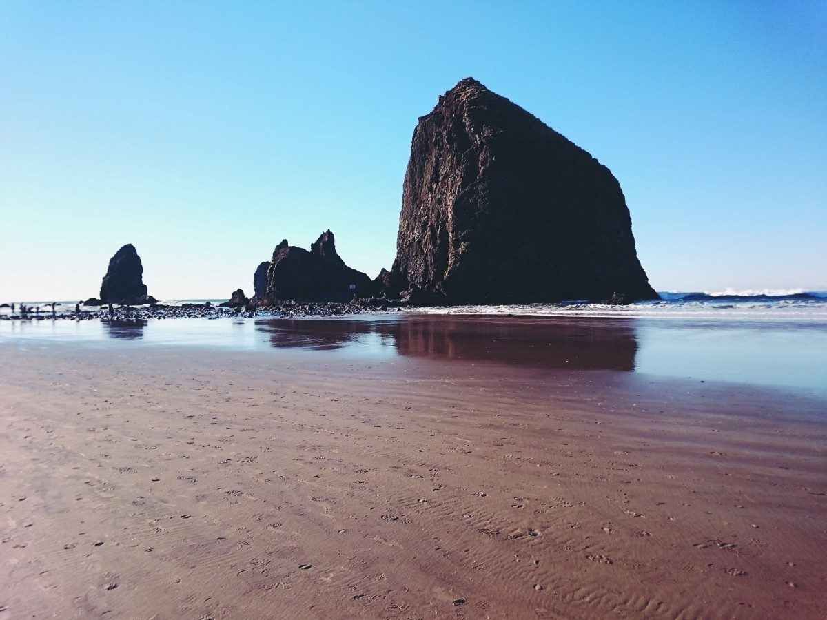 Haystack Rock off Cannon Beach, OR
