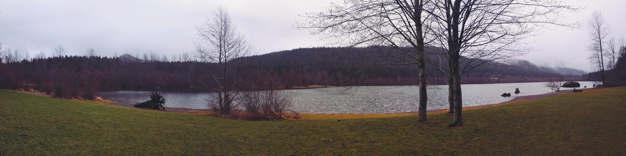 Panoramic of Rattlesnake Lake
