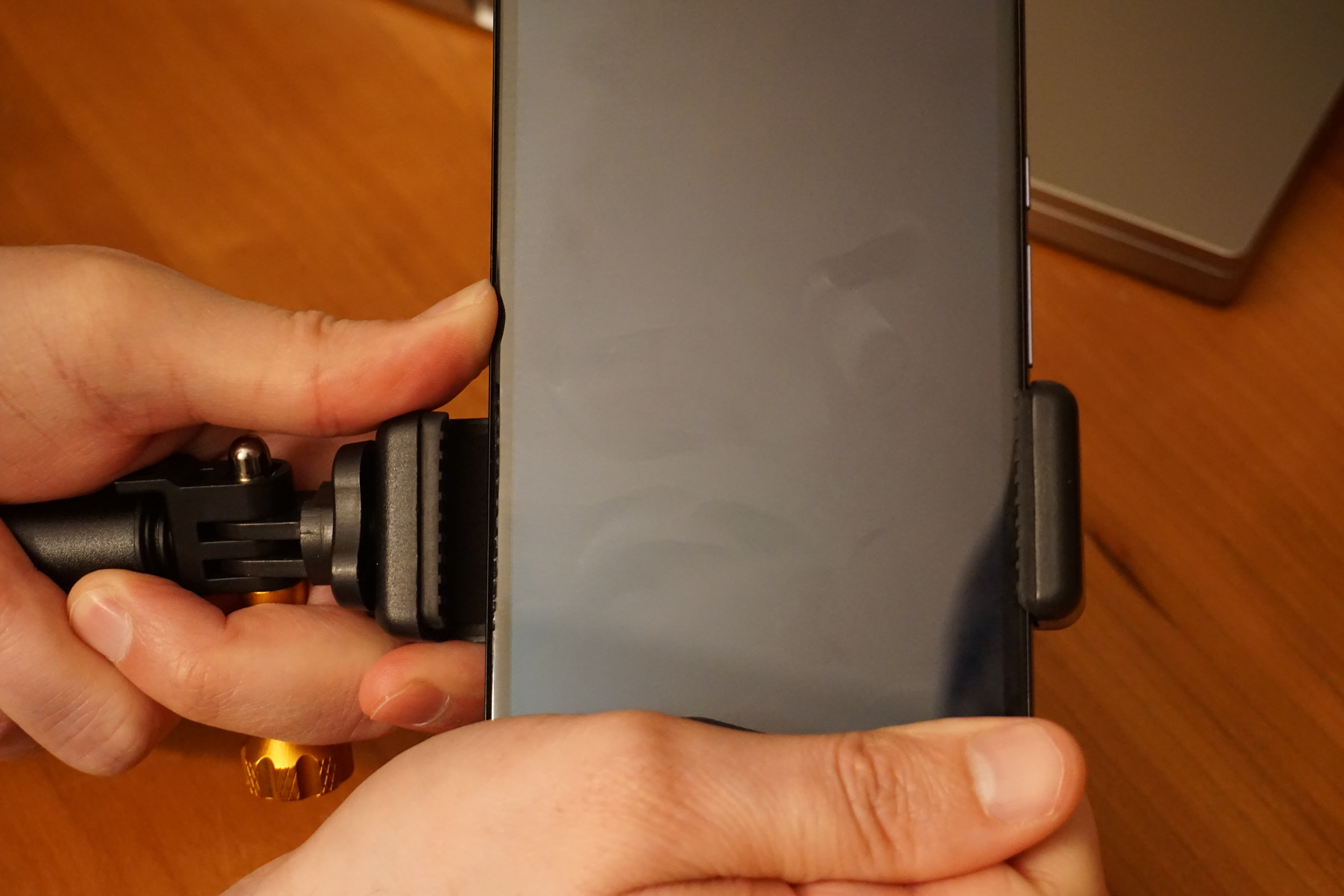 Larger phones, like the Nexus 6 shown, even have room to spare with the XShot Sport Camera Extender Pole
