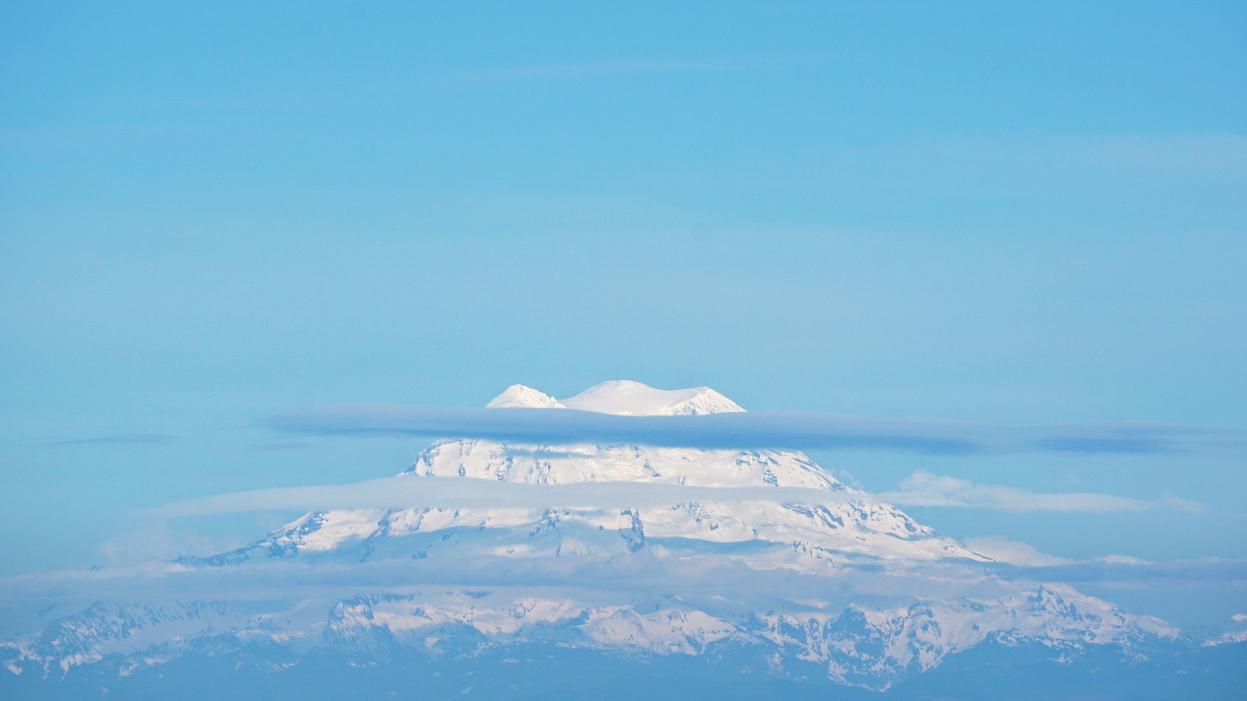 Mt. Rainier seen from Rock Candy Mountain