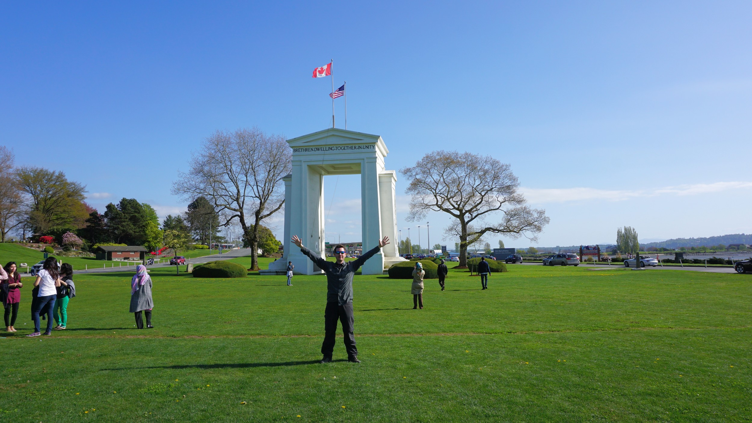Peace Arch viewed from the Canadian side