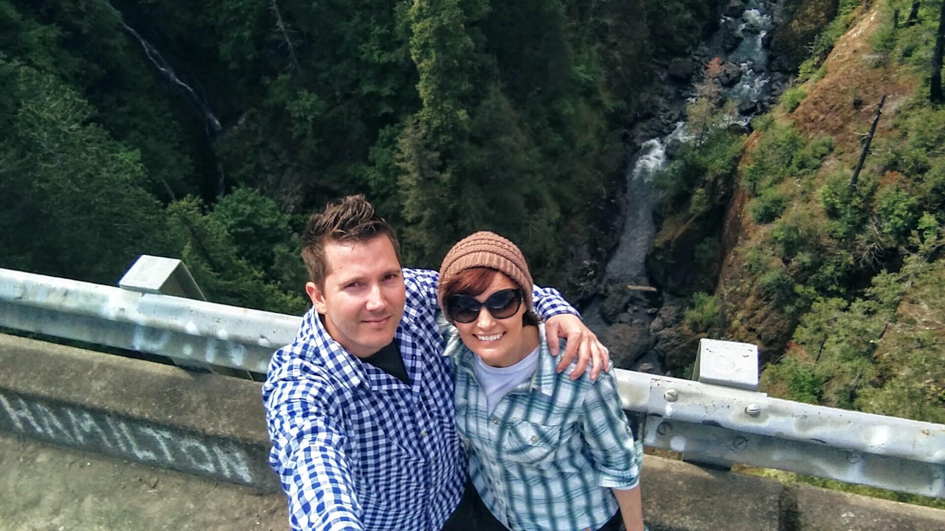 Us on High Steel Bridge