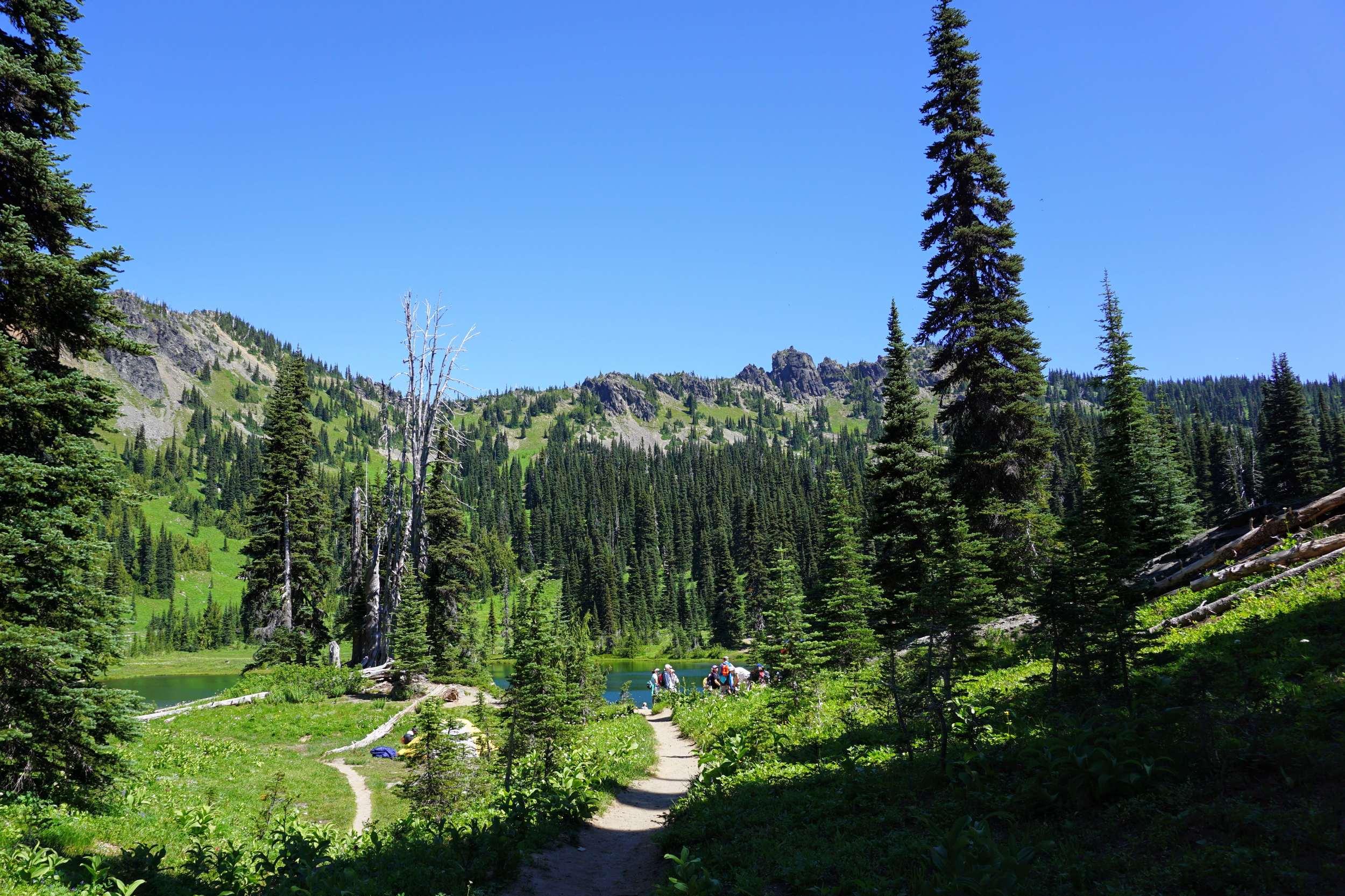 Hiking to Sheep Lake