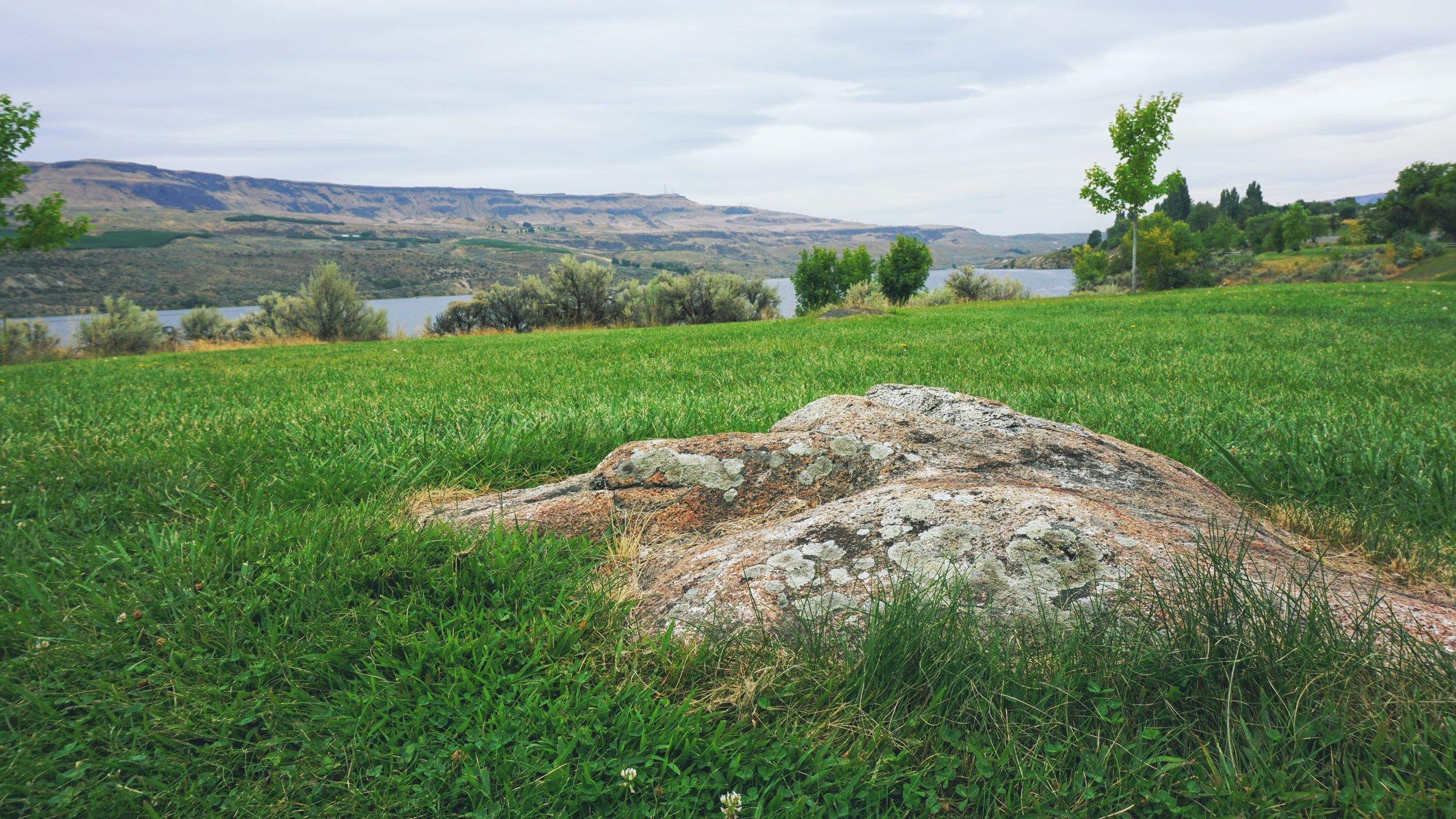 Bridgeport State Park overlooking the Columbia River