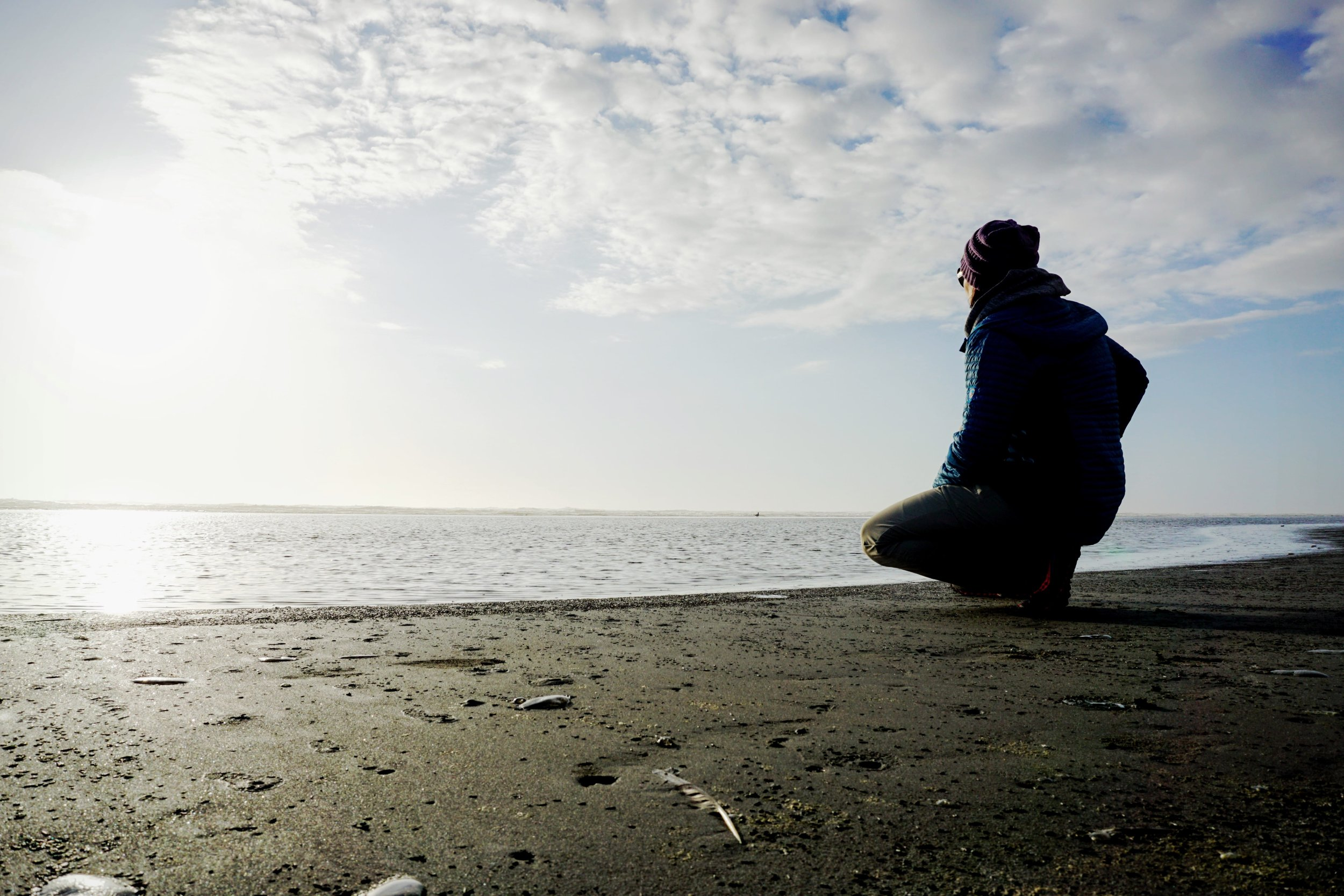 Reflecting at the Pacific Ocean