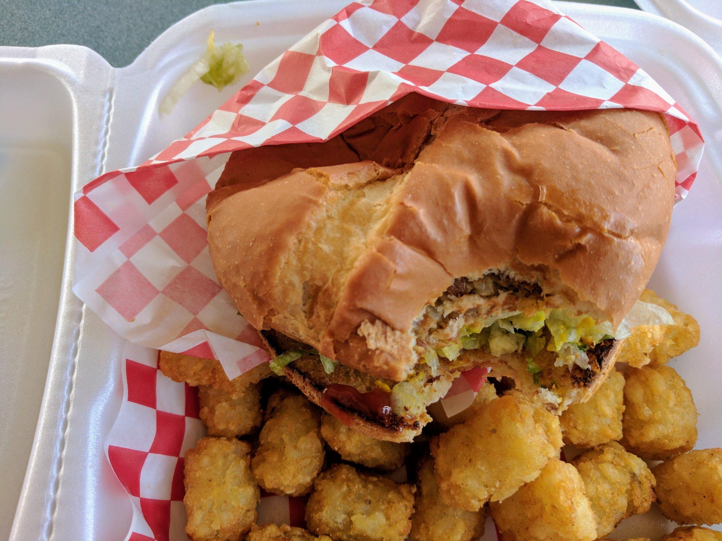 Garden Burger at Blustery's