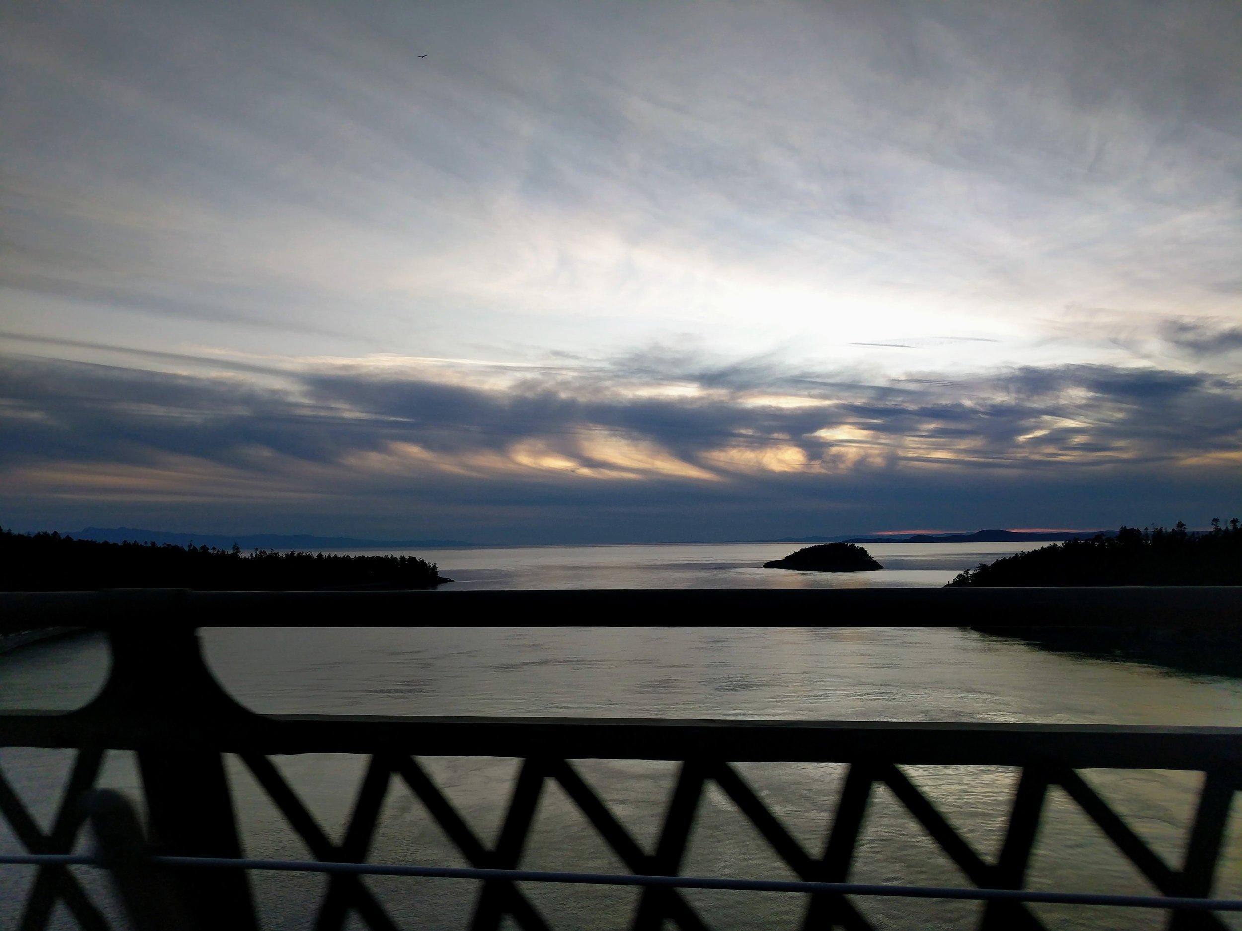 Sunset over Deception Pass