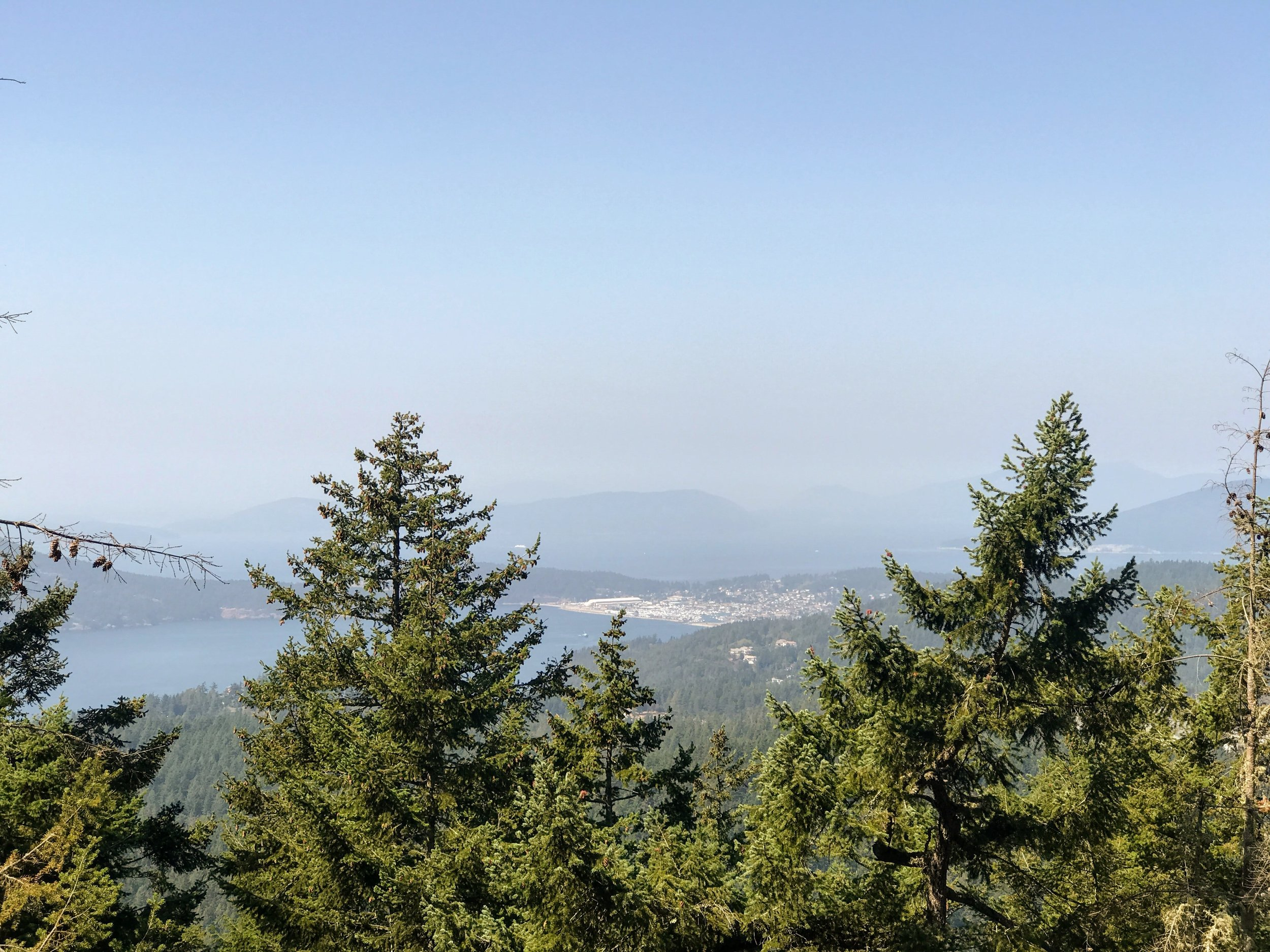 View of Flounder Bay from Mt. Erie